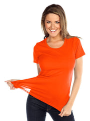 Womens & Juniors Jersey Crew Neck Short sleeve-RTAS
