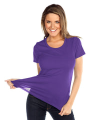Womens & Juniors Jersey Crew Neck Short sleeve-bF