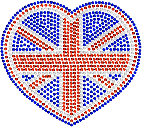 Great Britain Rhinestone Car Decal