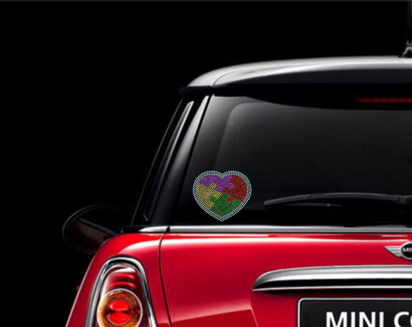 Autism Rhinestone Car Decal