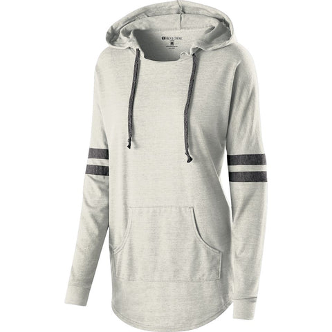 LADIES HOODED LOW KEY PULLOVER-smpw