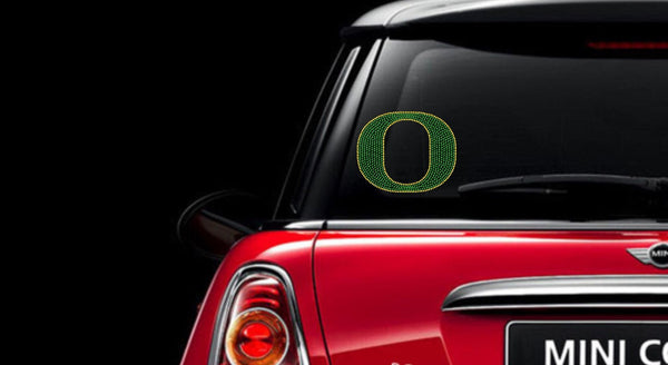 Oregon Ducks Rhinestone Car Decal