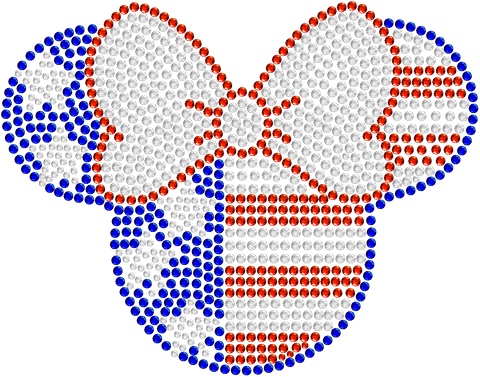 Minnie USA Rhinestone Car Decal