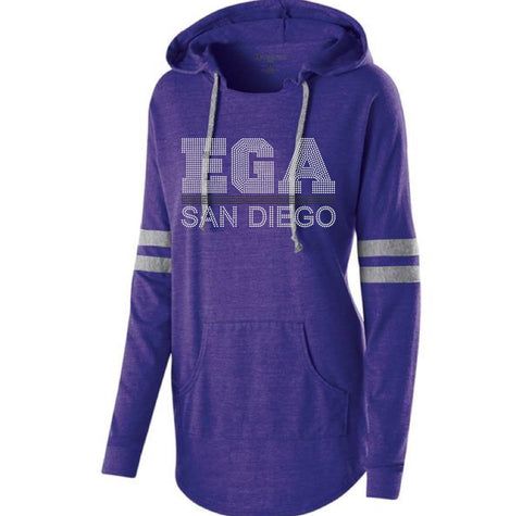 LADIES HOODED LOW KEY PULLOVER-ega