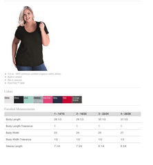Curvy Collection Women's Scoopneck Tee-Bk