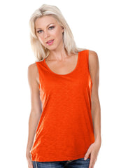 Women Slub Jersey Scoop Neck Tank-bk