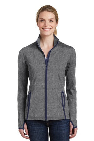 Ladies Sport-Wick stretch contrast full zip jacket
