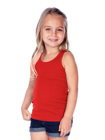 Little Girls Rib Tank-BK