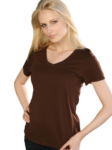 Women's V-neck short sleeve top