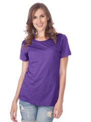 Women Slub Jersey Crew Neck Short Sleeve-stealth