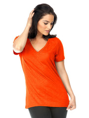 Women's Slub Jersey V Neck-water