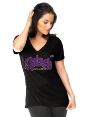 Women's Slub Jersey V Neck-Splash