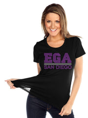 Womens & Juniors Jersey Crew Neck Short Sleeve-EGA