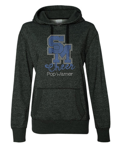 Women's Glitter French Terry Hooded Pullover-sm