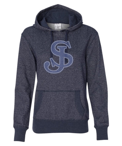 Women's Glitter French Terry Hooded Pullover-sjp
