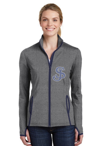 Ladies Sport-Wick stretch contrast full zip jacket-sjp