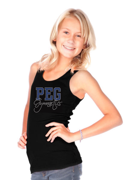 Girls-Juniors Beater Rib Tank-para