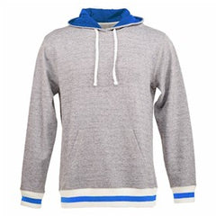 Peppered Fleece Lapover Hooded Pullover (Unisex)-TH