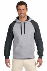 UNISEX Dri Power® Colorblock Raglan Hooded Pullover Sweatshirt