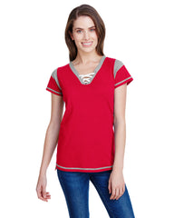 Ladies' Gameday Lace Up T-Shirt-Edison