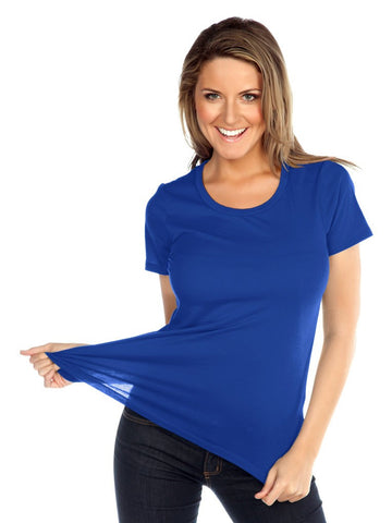 Women Sheer Jersey Crew Neck Short Sleeve-SC