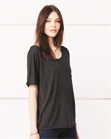Ladies' Flowy Simple Tee-SET