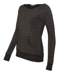 Ladies Maniac Eco-Fleece slouchy Sweatshirt-stealth