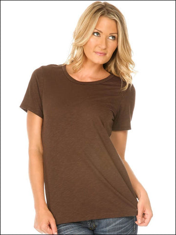 Women Slub Jersey Crew Neck Short Sleeve-hannah