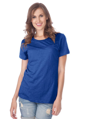 Women Slub Jersey Crew Neck Short Sleeve-smll cubs