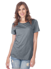 Women Slub Jersey Crew Neck Short Sleeve-Cv PTA