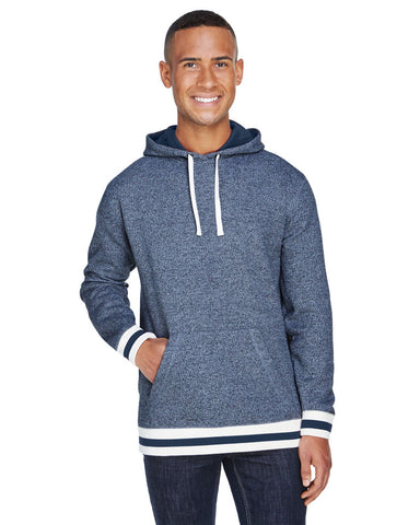 Peppered Fleece Lapover Hooded Pullover (Unisex)-Knights