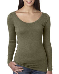 Women's Triblend Long Sleeve Scoopneck Tee