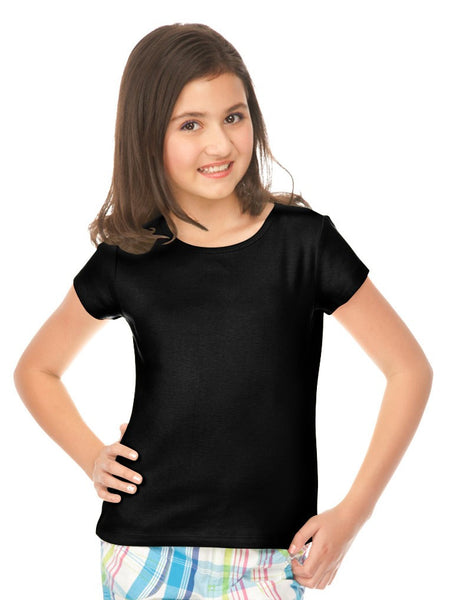 Girls 3-6x &  7-16 Baby Doll Tee-ADA