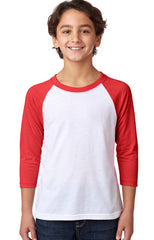 Youth CVC 3/4-Sleeve Raglan-ff