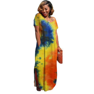 Tie Dye Galaxy Print Dress