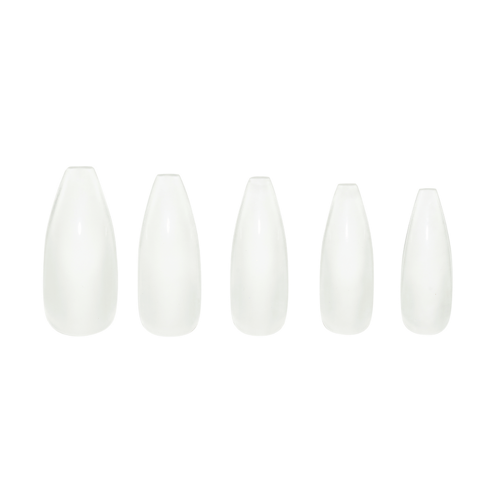 Très She Crystal acrylic nail set in five different sizes