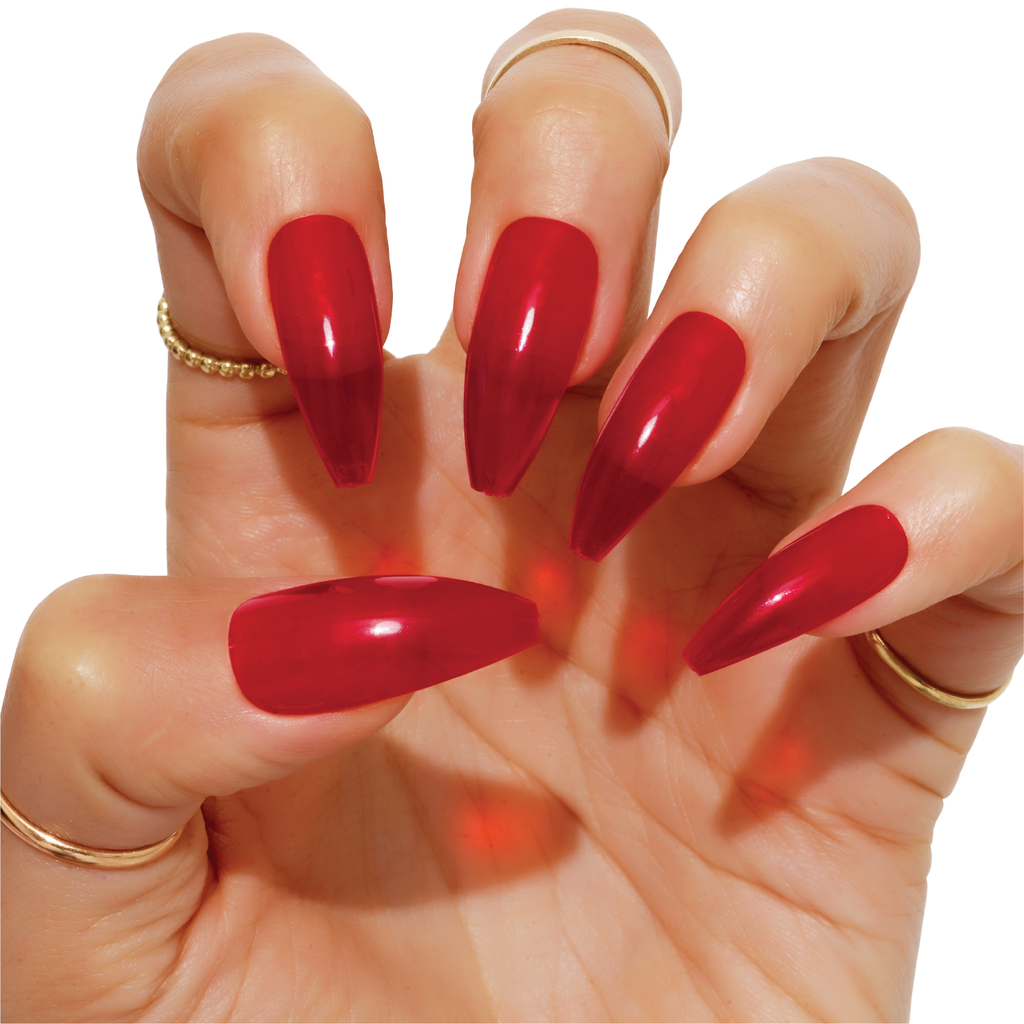 Tres She Instant Acrylics Nails Hot Lips Red Jelly