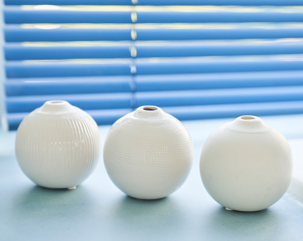 Small round vases ESCALATE (set of 3)