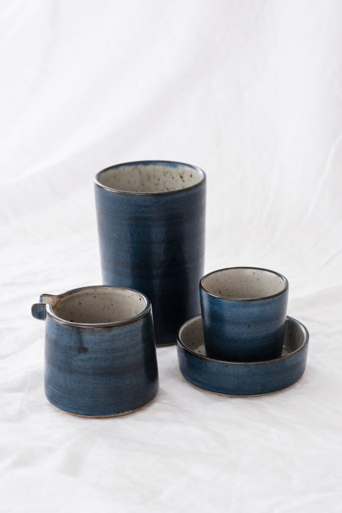 Set of 4 high cups diameter 8cm - LEA