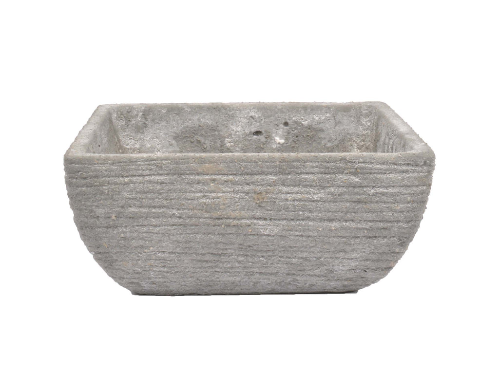 D&M ROUGH square pot