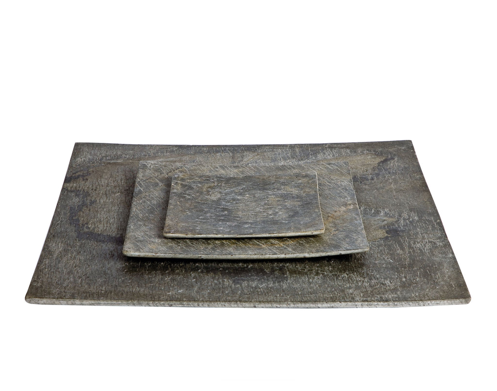D&M SLATE square plate