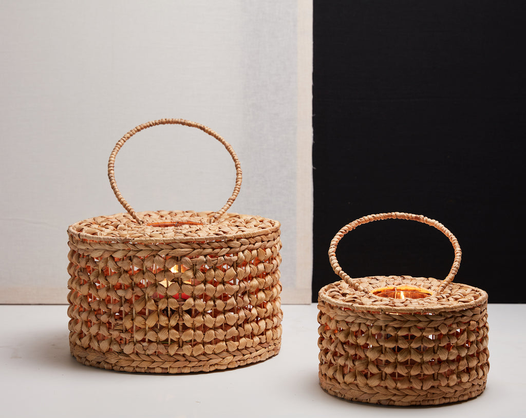 D&M SWAY lantern wicker