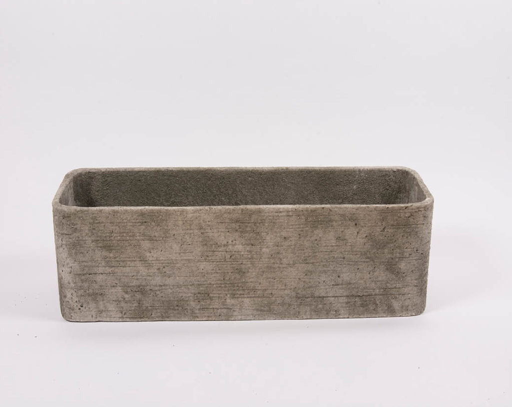 D&M ROUGH rectangular pot