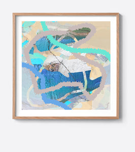 Aqua Tropical Weave Framed Print