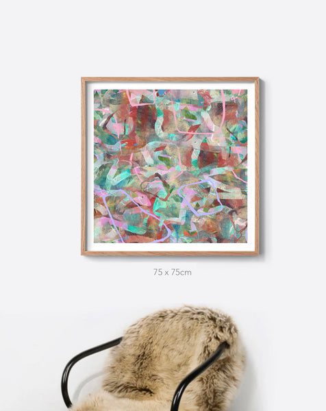 The Earth Tropical Camo Framed Print in Portrait or Square