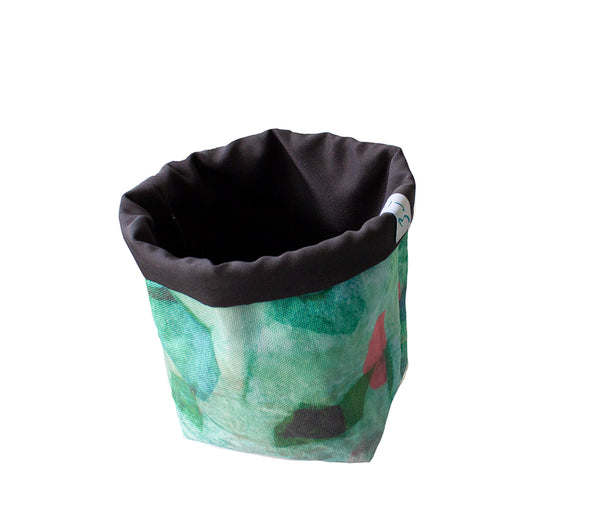 X-small Fabric Basket in Tropical Camo Emerald Print