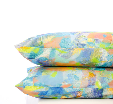 Pillowcase Set Water Tropical Camo Print