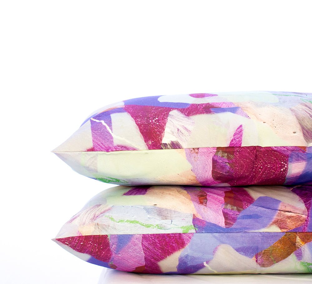 Pillowcase Set Tropical Camo Purple Print
