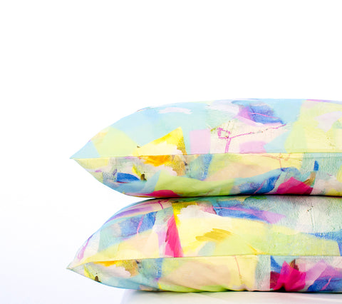 Pillowcase Set Pastel Tropical Camo Print