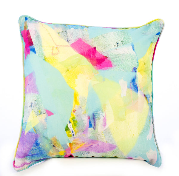 Pastel Tropical Camo Print Cushion Cover
